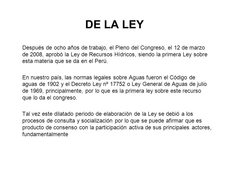 DE LA LEY