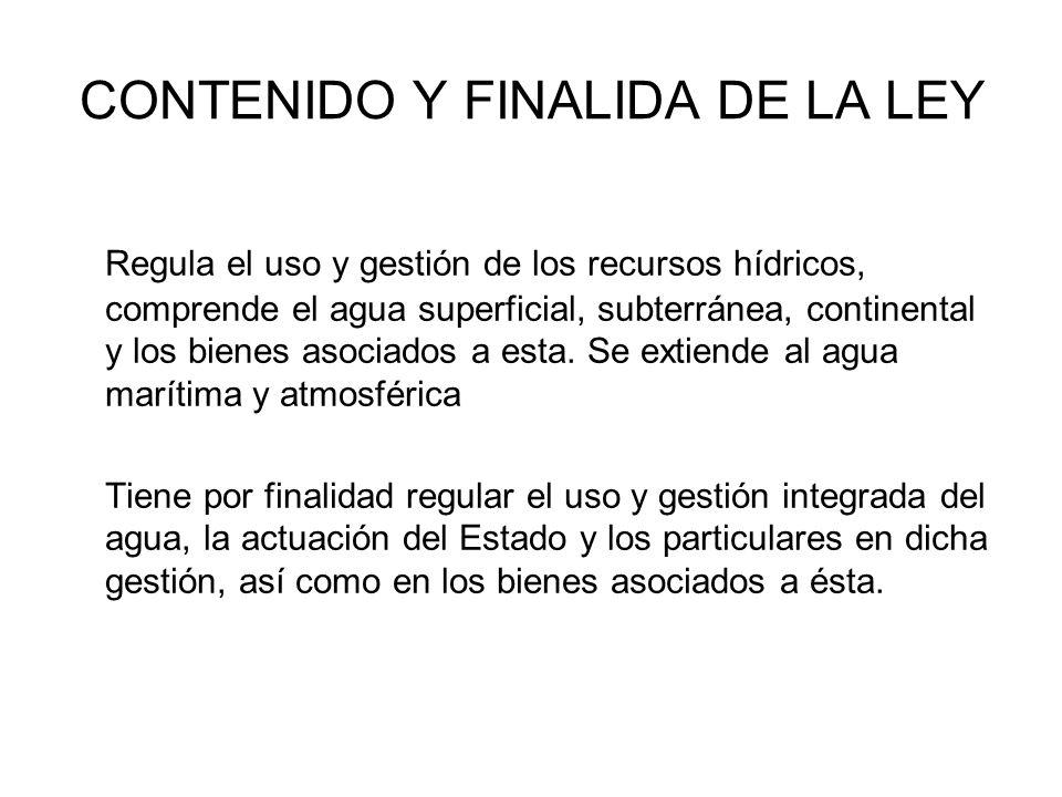 CONTENIDO Y FINALIDA DE LA LEY