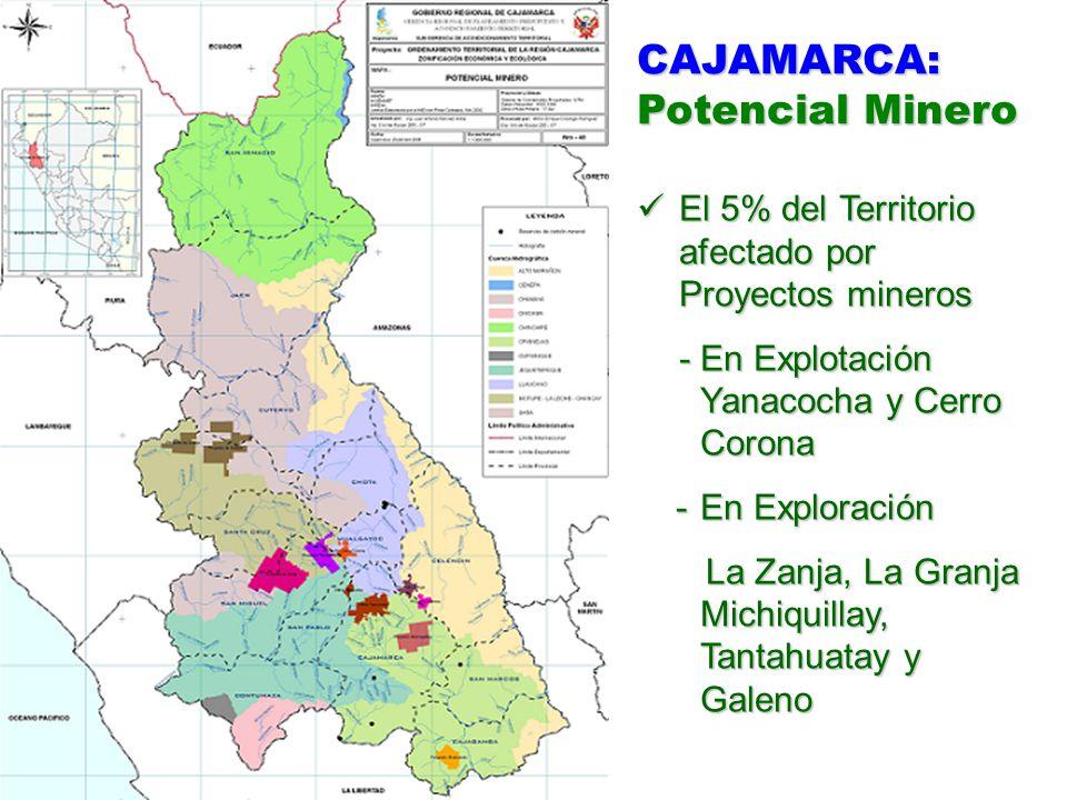 CAJAMARCA: Potencial Minero