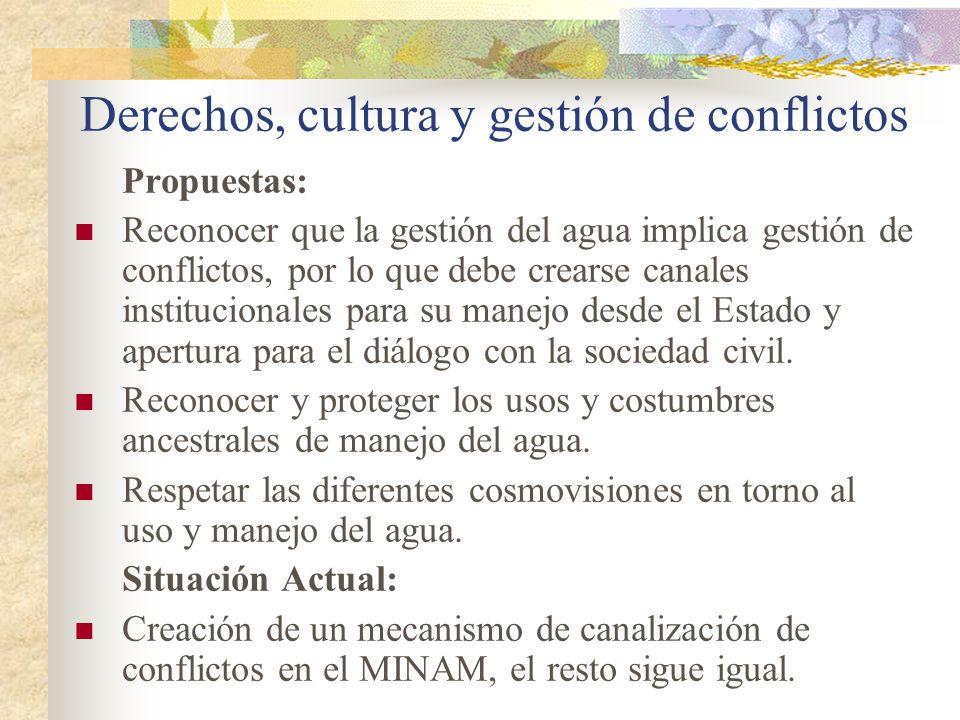 Derechos, cultura y gestión de conflictos