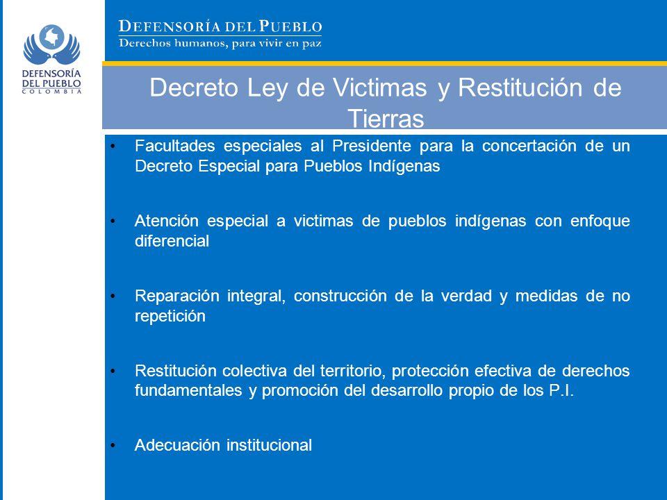 Decreto Ley de Victimas y Restitución de Tierras