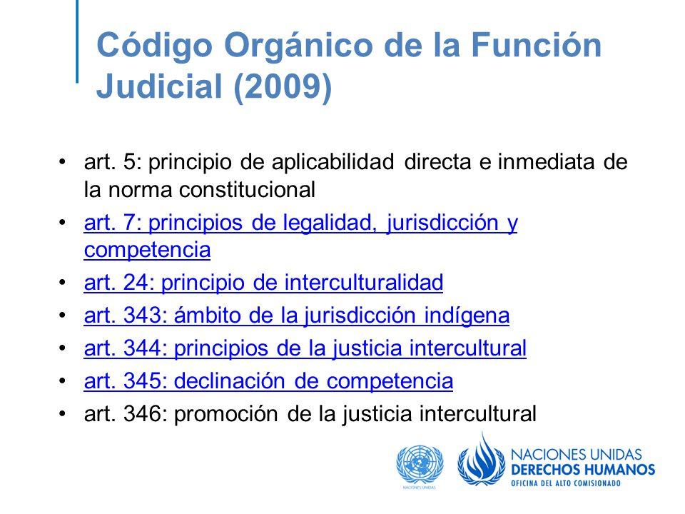 Código Orgánico de la Función Judicial (2009)