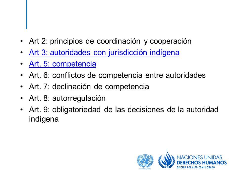 Art 2: principios de coordinación y cooperación