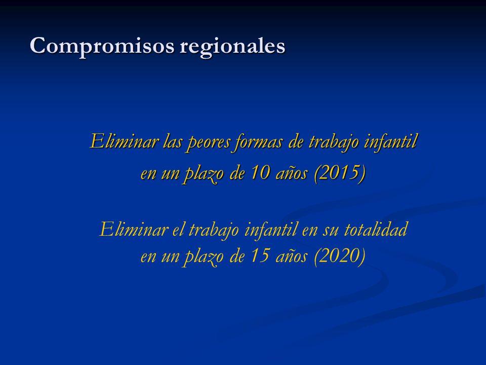 Compromisos regionales