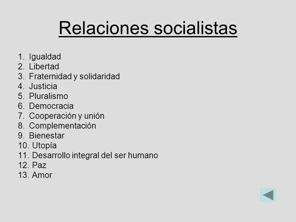 Relaciones socialistas