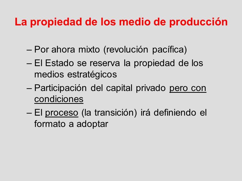 La propiedad de los medio de producción