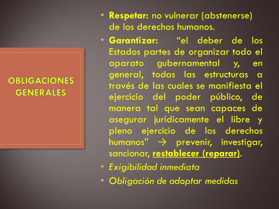 OBLIGACIONESGENERALES