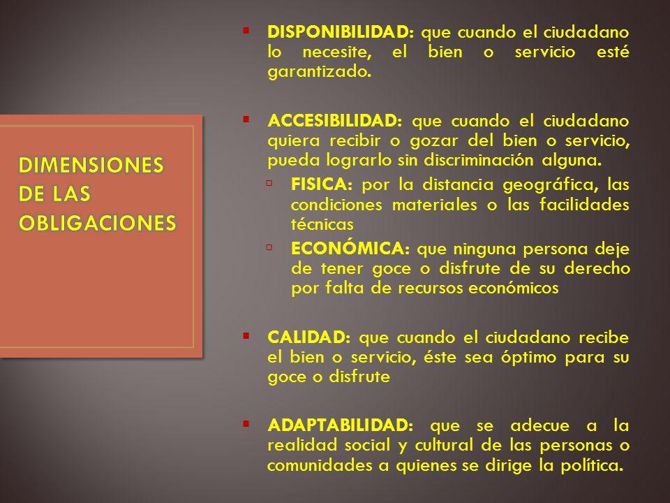 DIMENSIONES DE LAS OBLIGACIONES