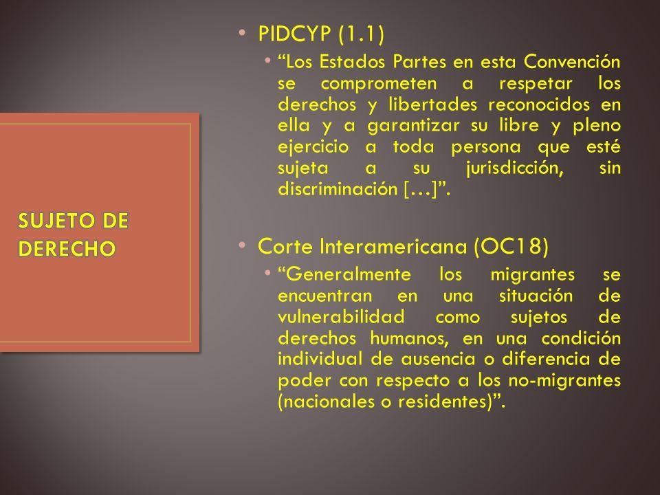 Corte Interamericana (OC18)