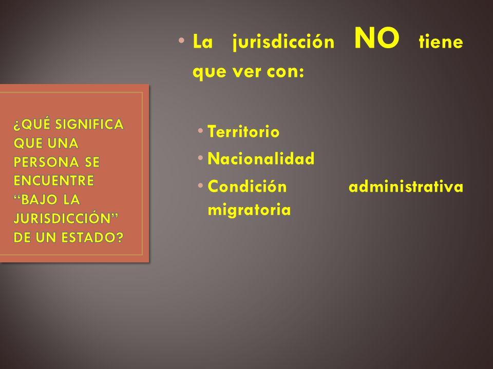 La jurisdicción NO tiene que ver con: