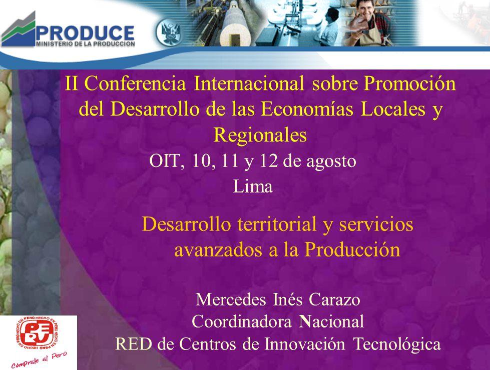 Desarrollo territorial y servicios avanzados a la Producción