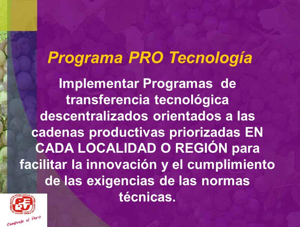 Programa PRO Tecnología
