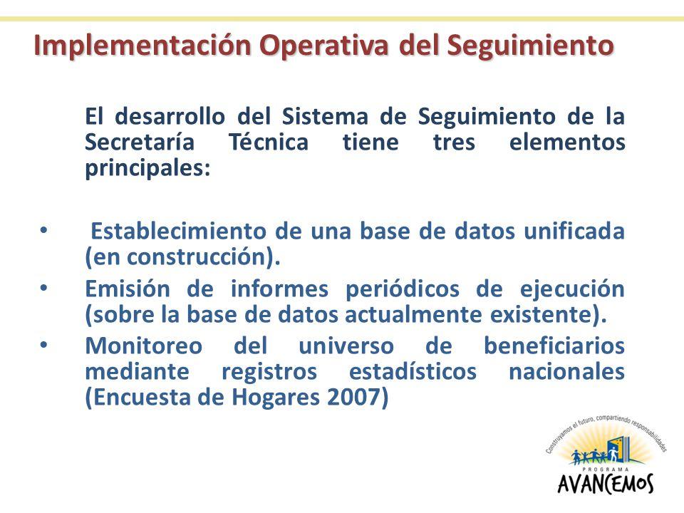 Implementación Operativa del Seguimiento