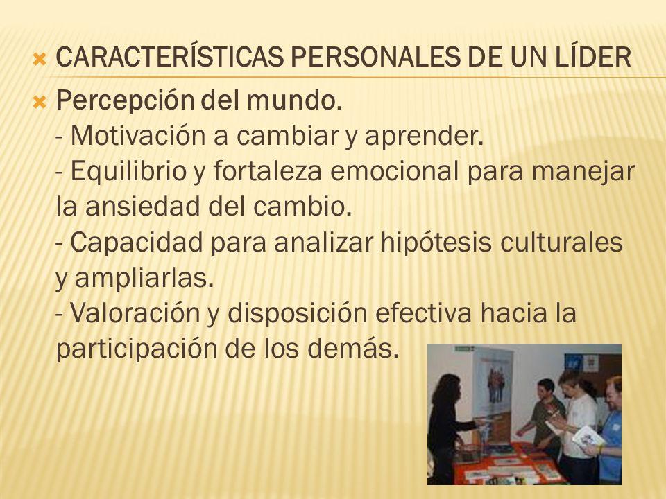 CARACTERÍSTICAS PERSONALES DE UN LÍDER