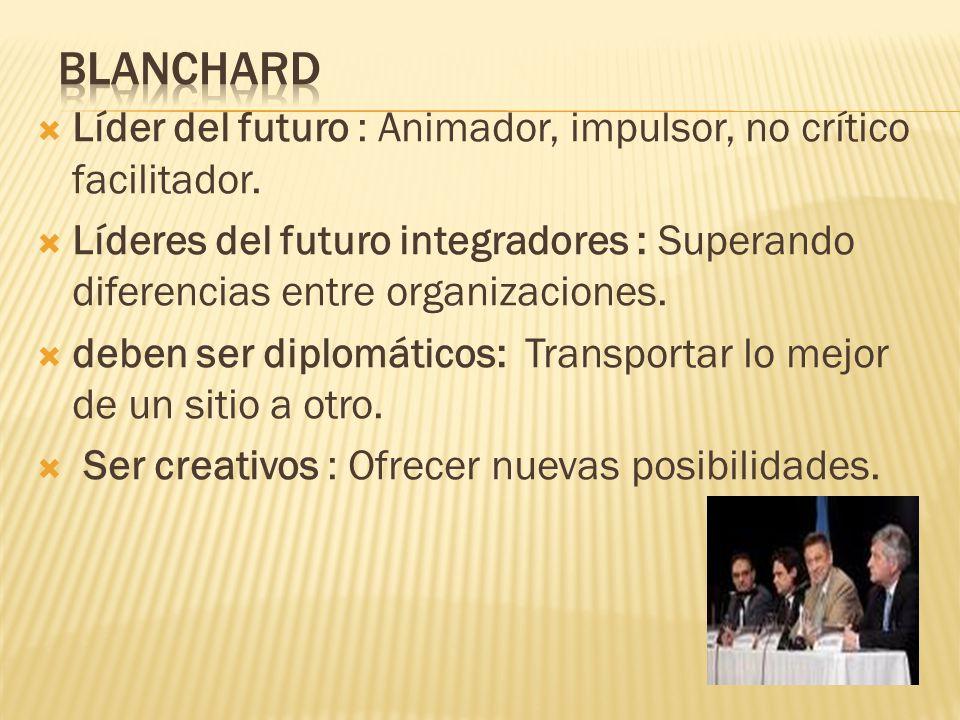Blanchard Líder del futuro : Animador, impulsor, no crítico facilitador.