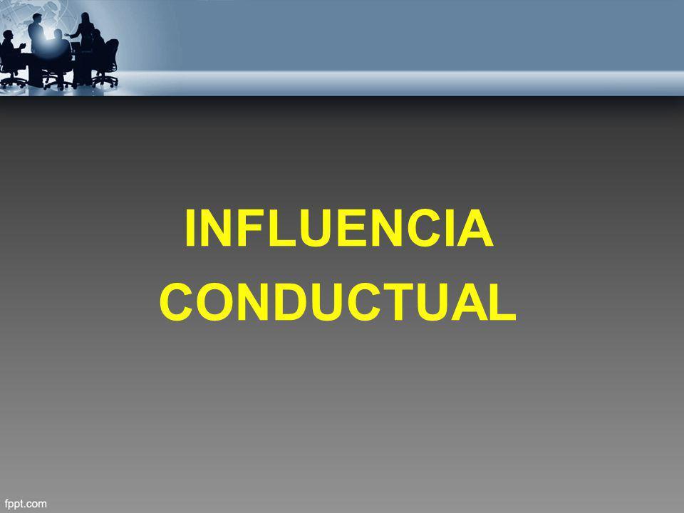 INFLUENCIA CONDUCTUAL