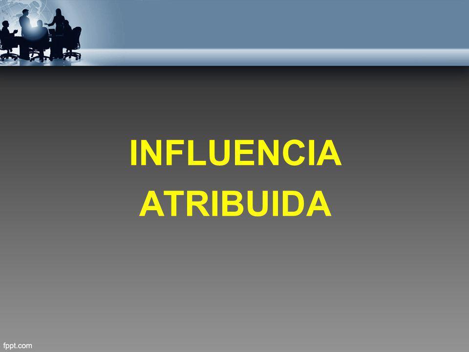INFLUENCIA ATRIBUIDA