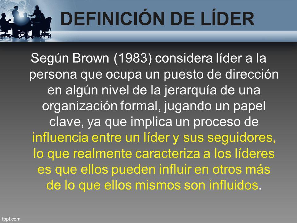 DEFINICIÓN DE LÍDER