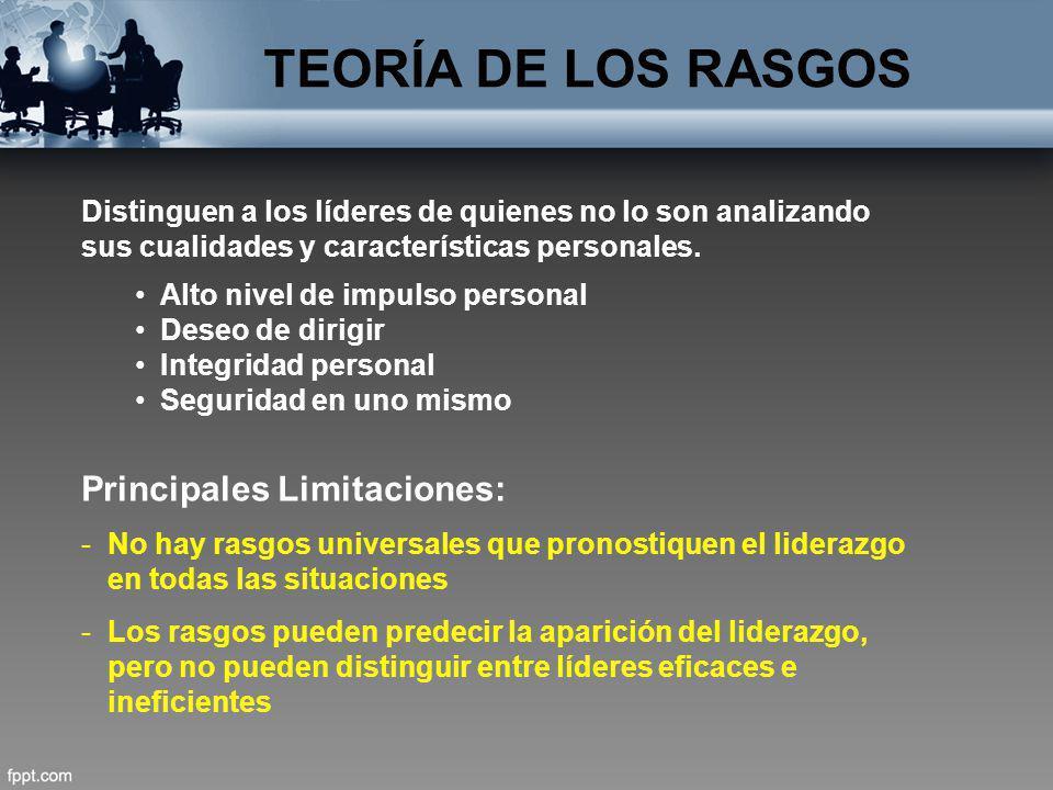 TEORÍA DE LOS RASGOS Principales Limitaciones: