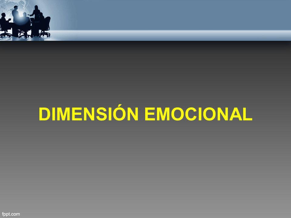 DIMENSIÓN EMOCIONAL