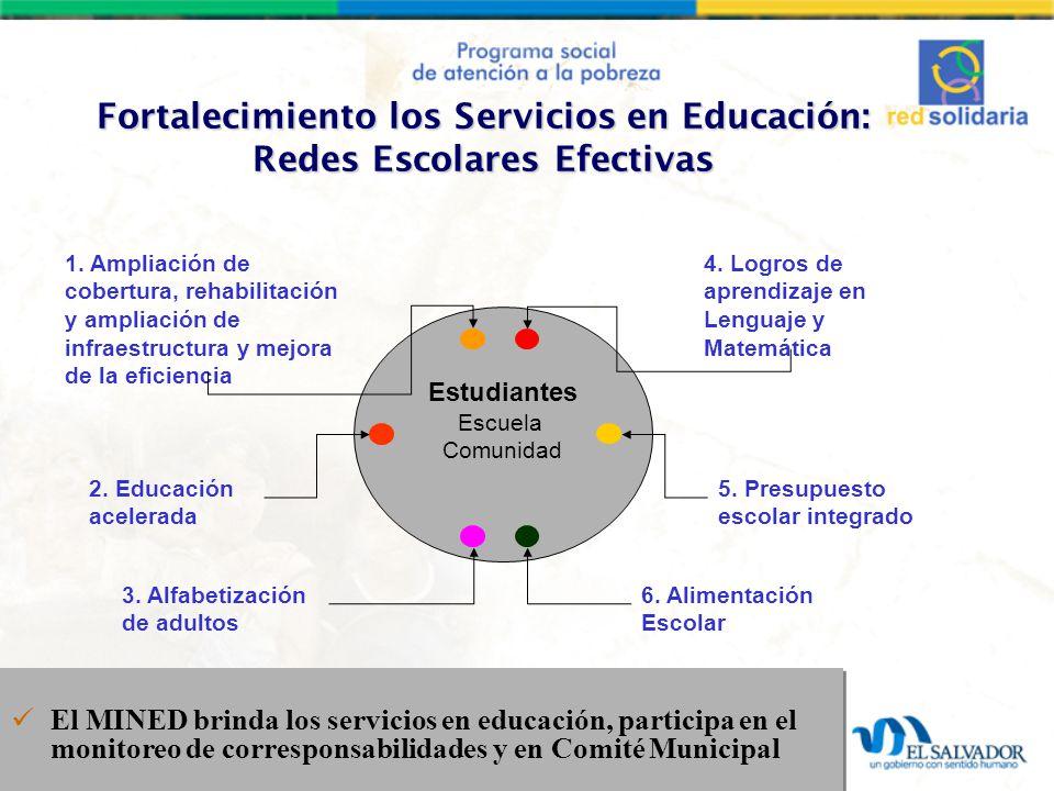 Fortalecimiento los Servicios en Educación: Redes Escolares Efectivas