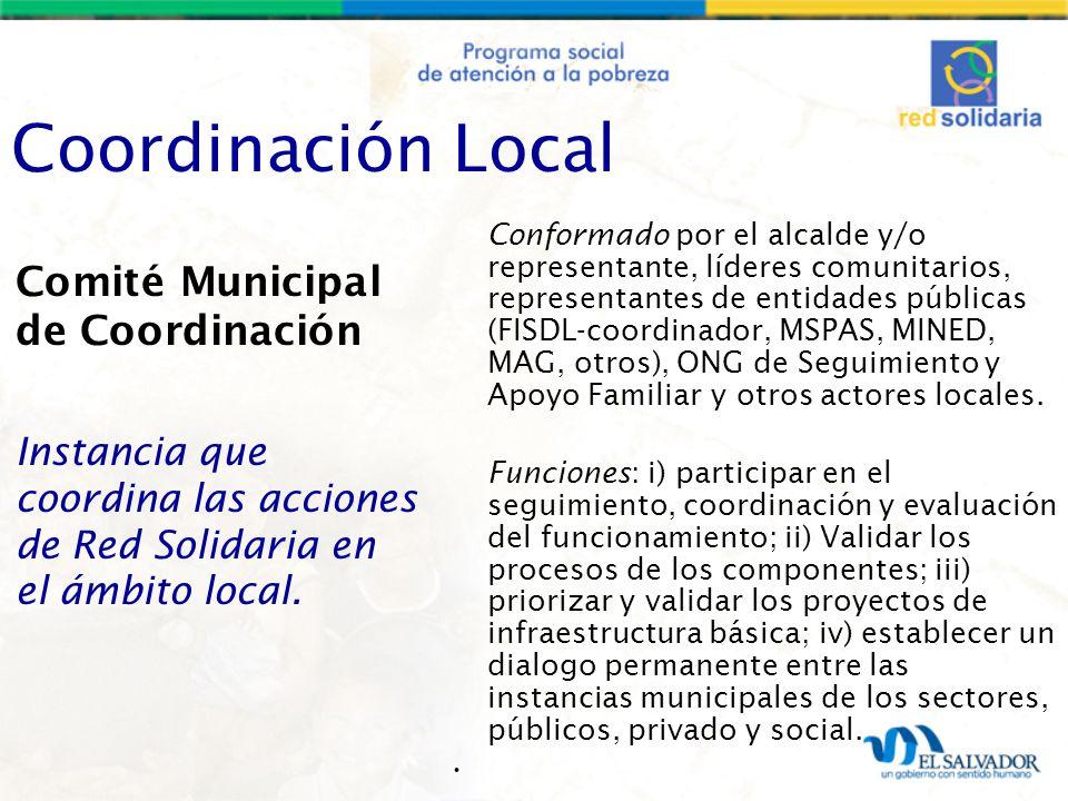 Coordinación Local Comité Municipal de Coordinación