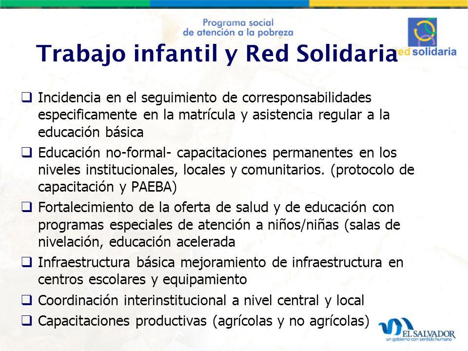 Trabajo infantil y Red Solidaria