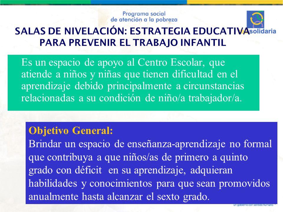 SALAS DE NIVELACIÓN: ESTRATEGIA EDUCATIVA PARA PREVENIR EL TRABAJO INFANTIL