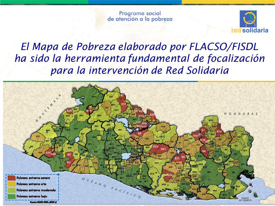 El Mapa de Pobreza elaborado por FLACSO/FISDL ha sido la herramienta fundamental de focalización para la intervención de Red Solidaria
