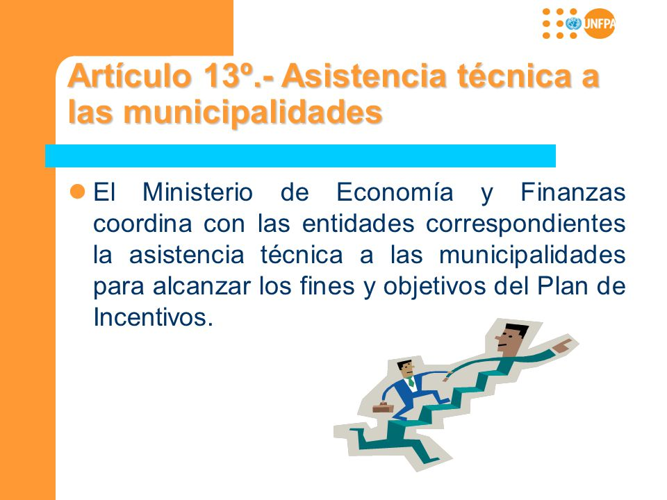 Artículo 13º.- Asistencia técnica a las municipalidades