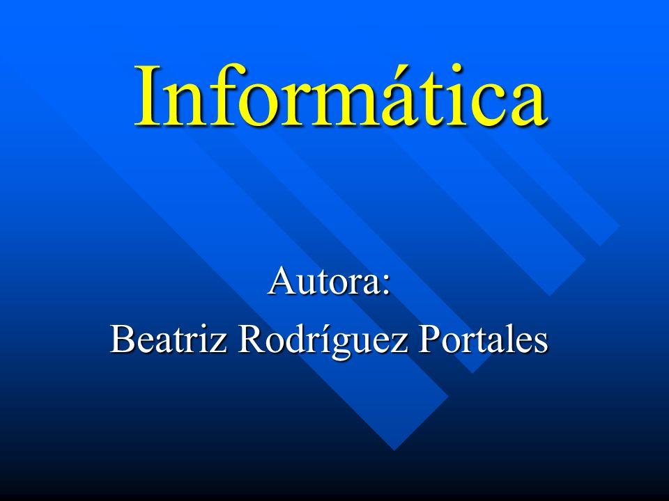 Autora: Beatriz Rodríguez Portales