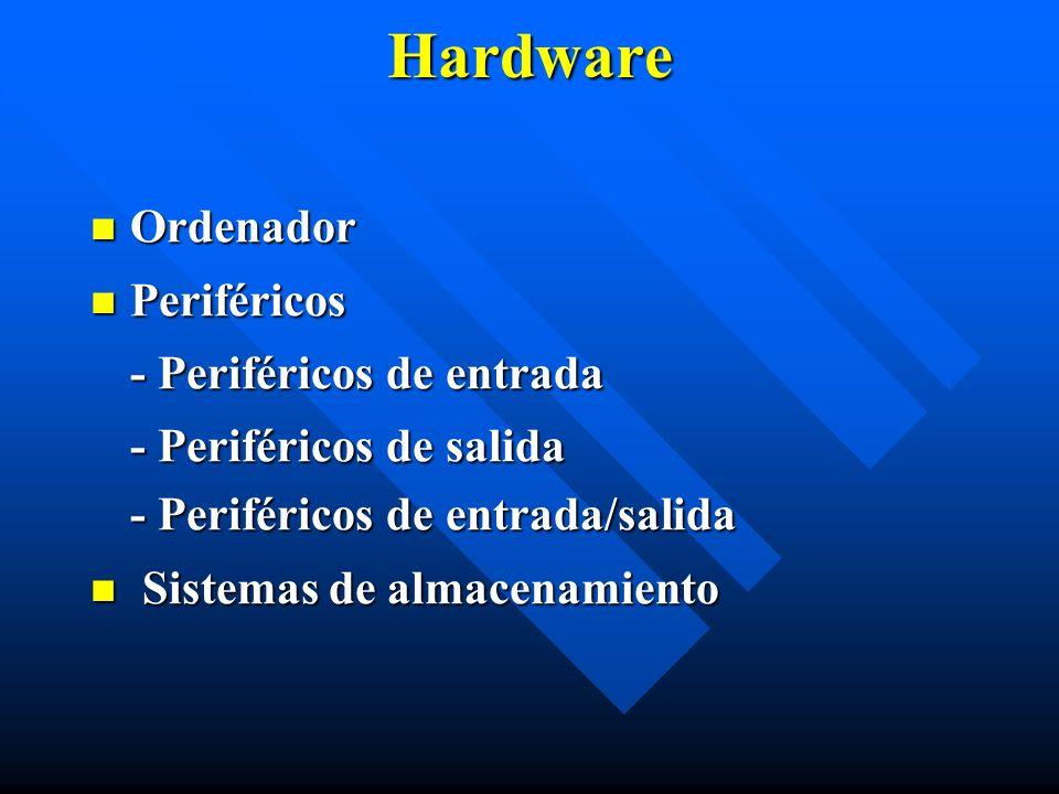 Hardware Ordenador Periféricos - Periféricos de entrada