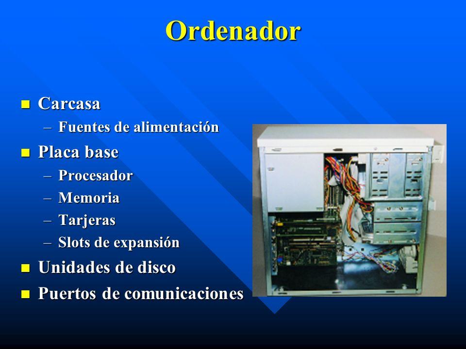 Ordenador Carcasa Placa base Unidades de disco