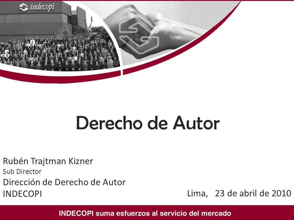 Derecho de Autor Rubén Trajtman Kizner Sub Director