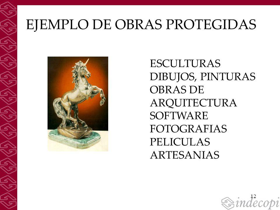 EJEMPLO DE OBRAS PROTEGIDAS