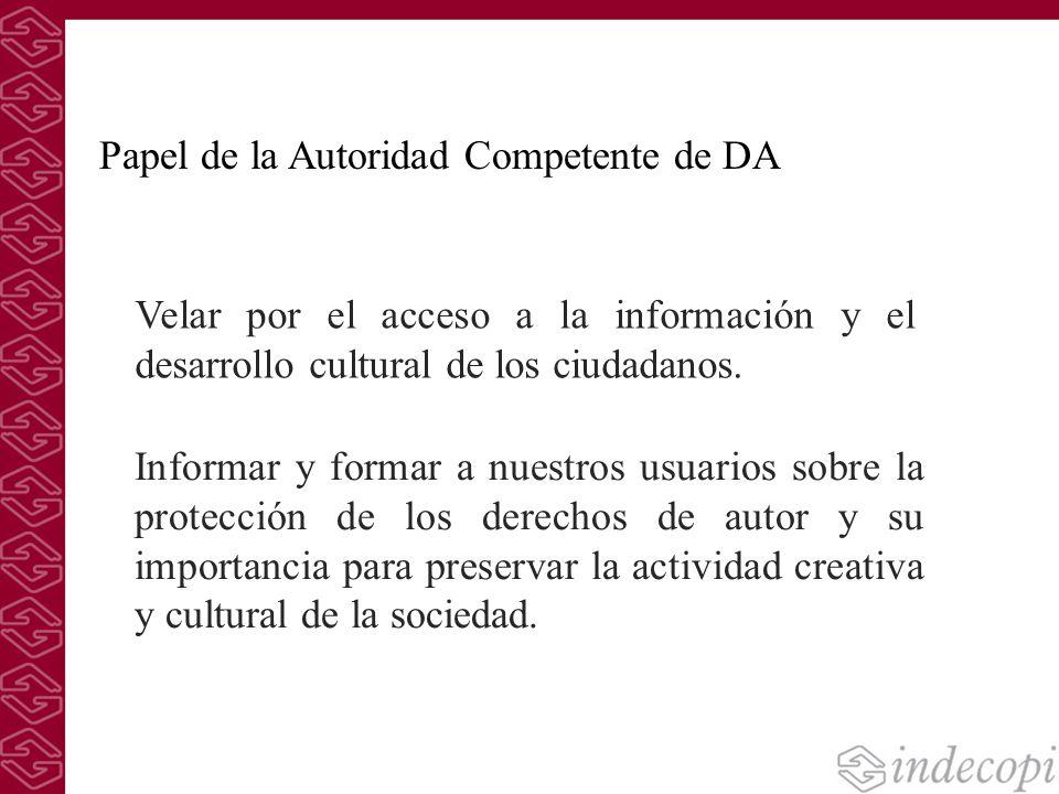 Papel de la Autoridad Competente de DA