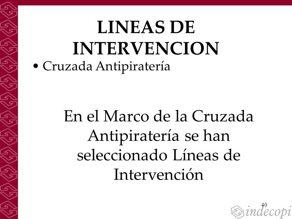 LINEAS DE INTERVENCION