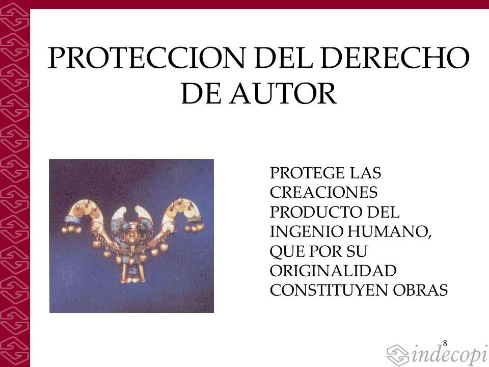 PROTECCION DEL DERECHO DE AUTOR