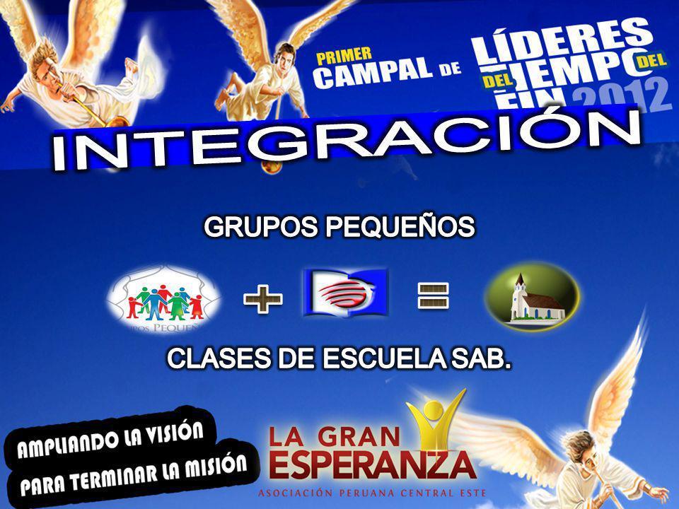INTEGRACIÓN GRUPOS PEQUEÑOS CLASES DE ESCUELA SAB.