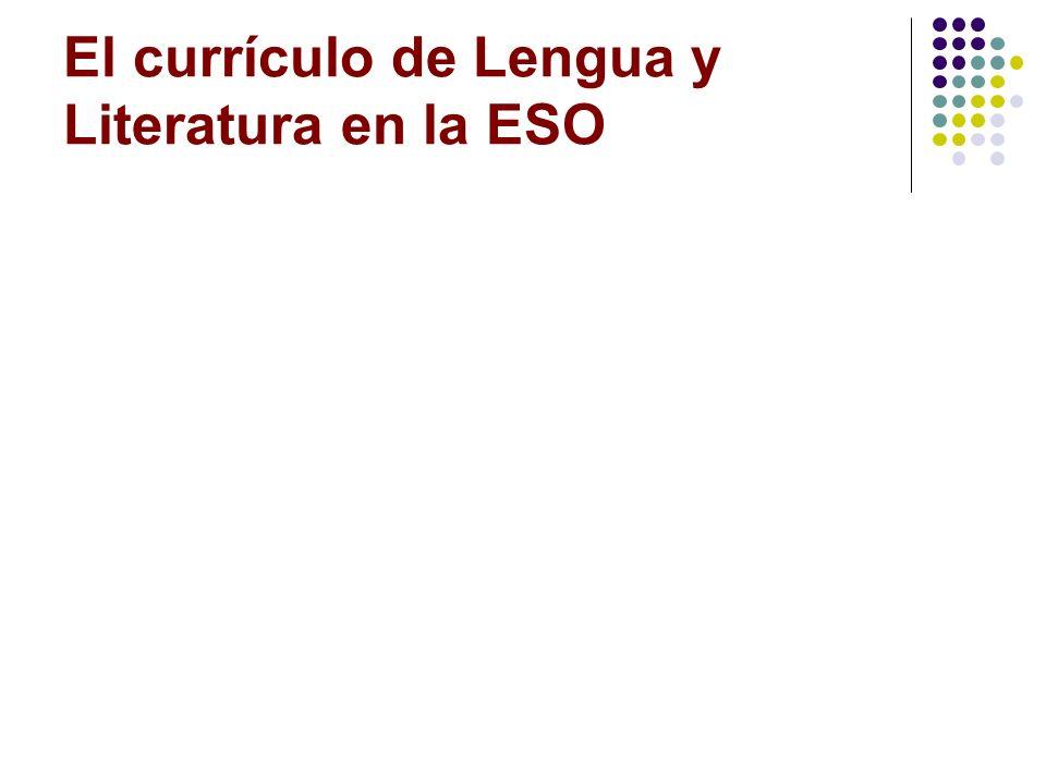 El currículo de Lengua y Literatura en la ESO