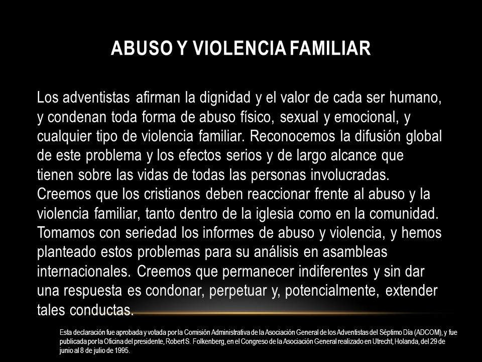 Abuso y violencia familiar