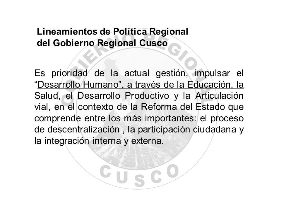 Lineamientos de Política Regional