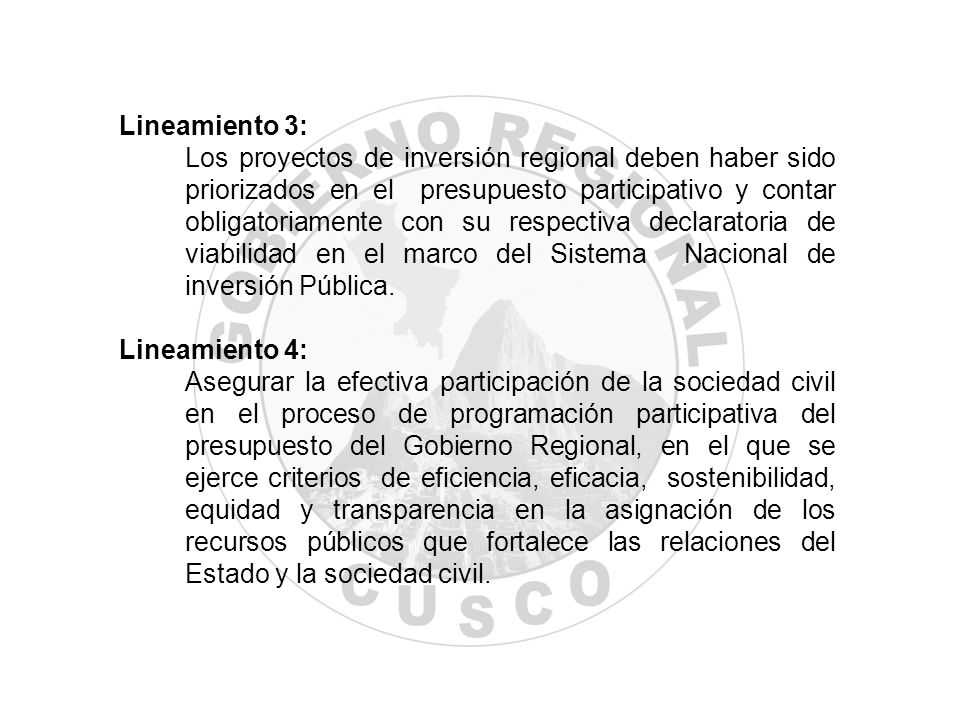 Lineamiento 3: