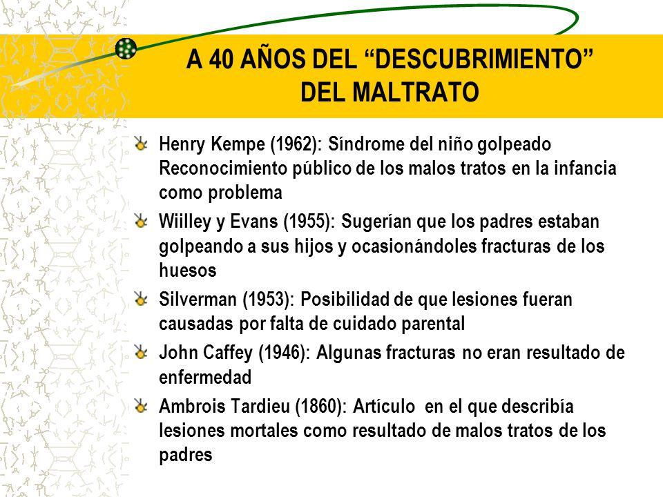 A 40 AÑOS DEL DESCUBRIMIENTO DEL MALTRATO