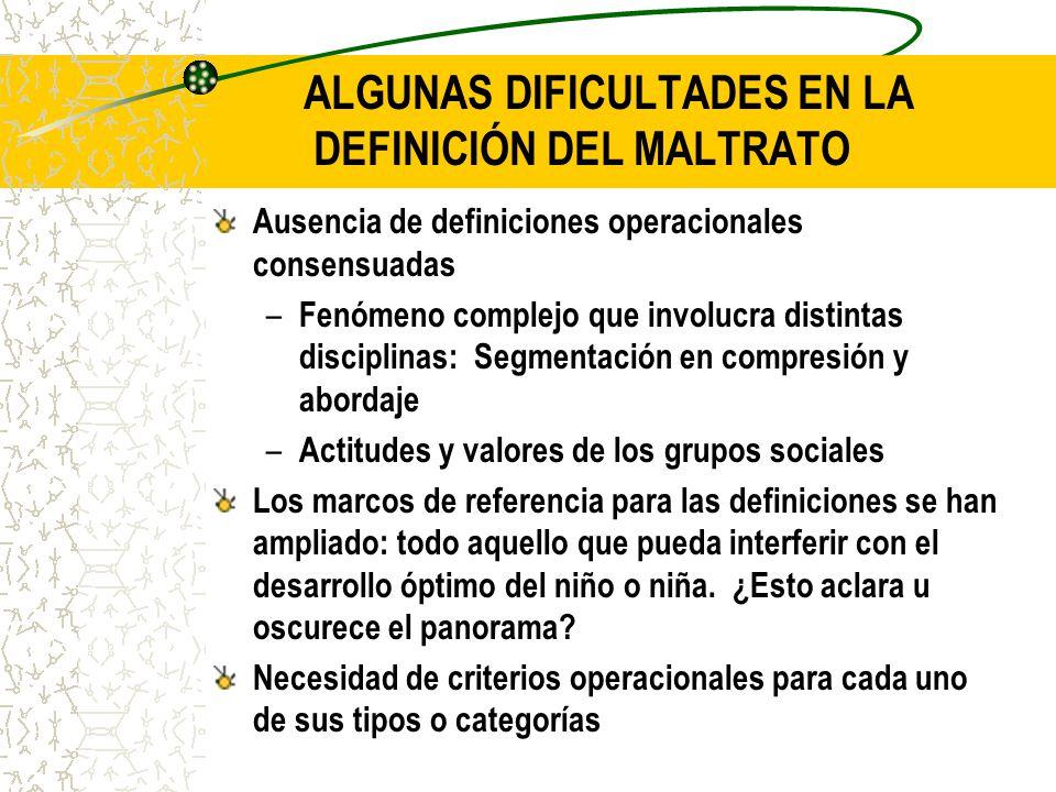 ALGUNAS DIFICULTADES EN LA DEFINICIÓN DEL MALTRATO