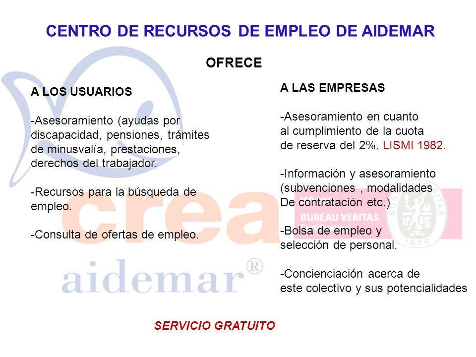 CENTRO DE RECURSOS DE EMPLEO DE AIDEMAR