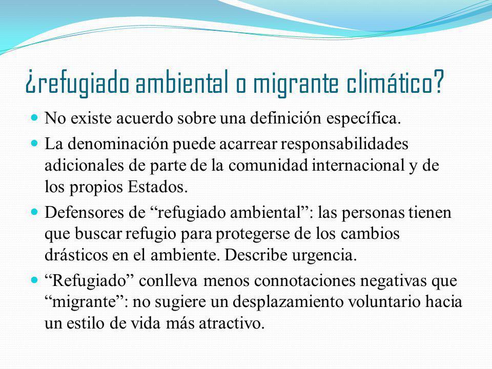¿refugiado ambiental o migrante climático