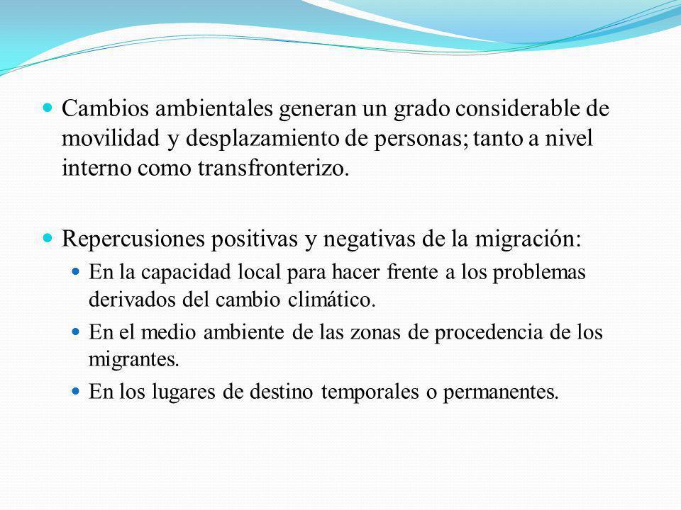 Repercusiones positivas y negativas de la migración:
