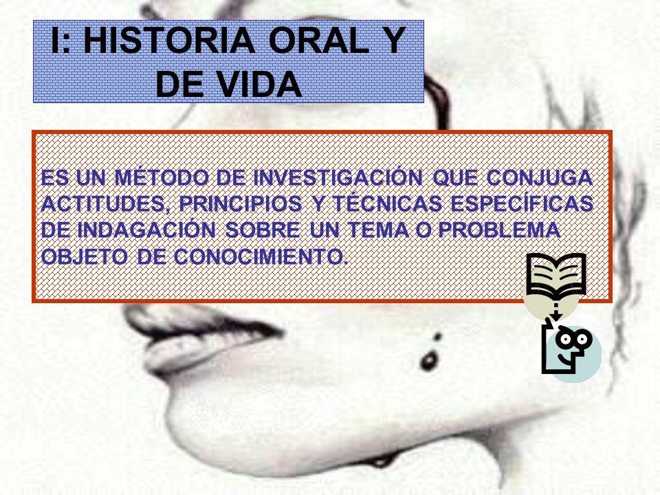I: HISTORIA ORAL Y DE VIDA