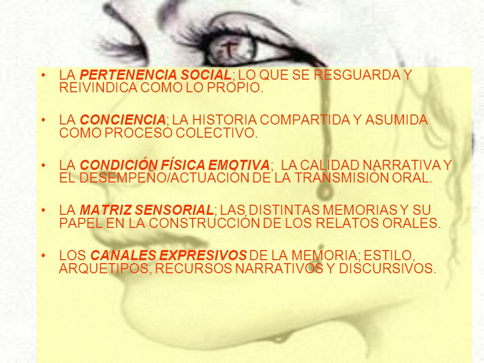 LA PERTENENCIA SOCIAL; LO QUE SE RESGUARDA Y REIVINDICA COMO LO PROPIO.